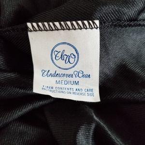 undercover wear Intimates & Sleepwear - Vtg. Undercover Wear Nylon Black Long Slip, Medium